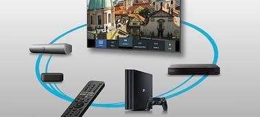 Smart Remote-tal irányított, összekapcsolt készülékek képe