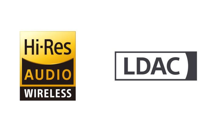 Hi-Res Audio Wireless és LDAC logó