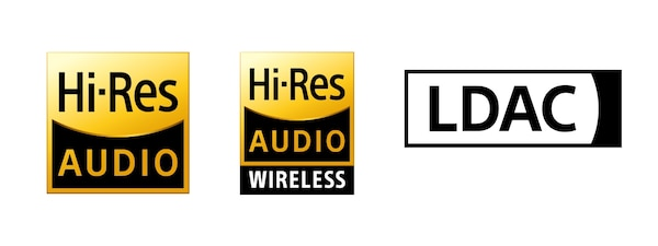 Hi-Res Audio, Hi-Res Audio Wireless és LDAC logók