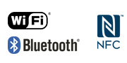 WiFi NFC Bluetooth logó