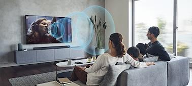 BRAVIA televízió képe Acoustic Center Sync funkcióval